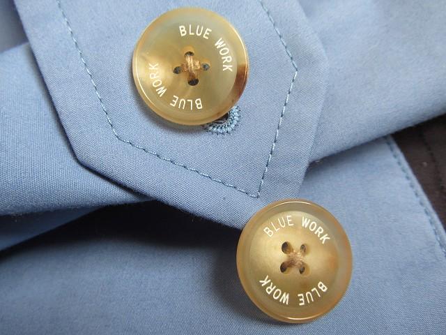 bluework ステンカラーコート 水色