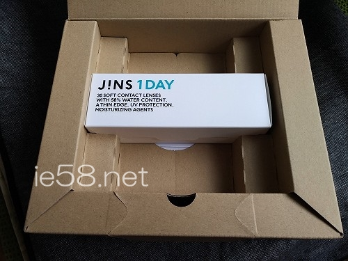 jinsコンタクトの梱包